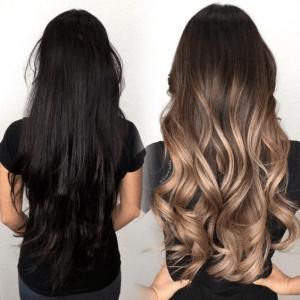 10 tonos balayage ideales para cabello oscuro