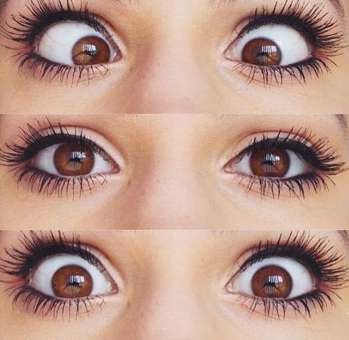 ojos color marron