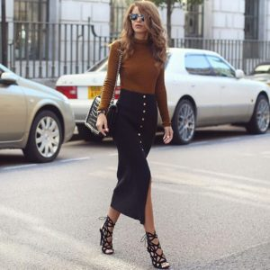 10 Outfits sensuales con faldas largas que te van a encantar