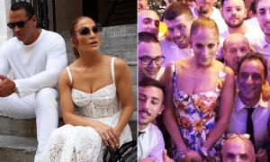 Jennifer Lopez y los 3 lujosos vestidos de Dolce & Gabbana con los que arrasó en Italia