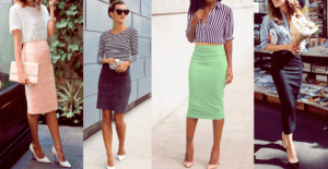 Outfits con falda lápiz