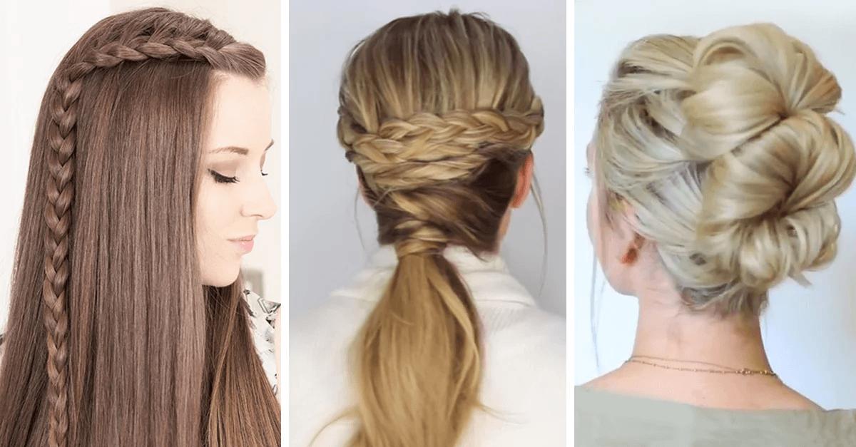 10 Peinados super sencillos de hacer