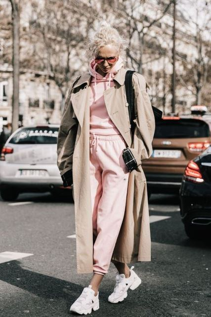 pastels trench