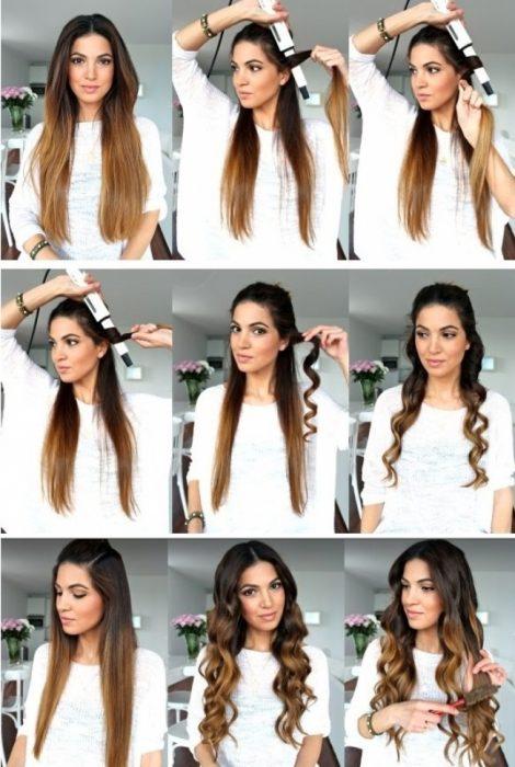 Resultado de imagen para tutorial ondular pelo con tenaza