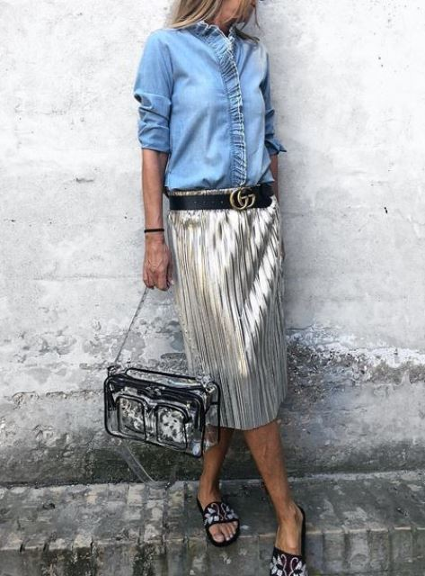 metallc skirt