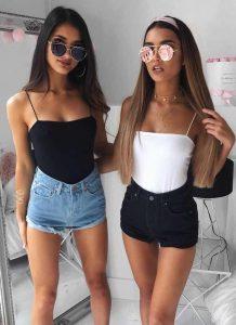 31 Outfits con Short de jeans que te harán lucir Perfecta