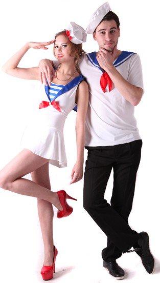 marineros disfraz pareja