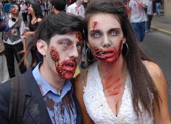 novios zombies disfraz pareja