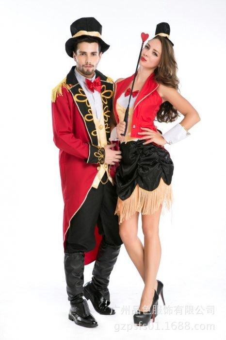 domadores de circo disfraz pareja
