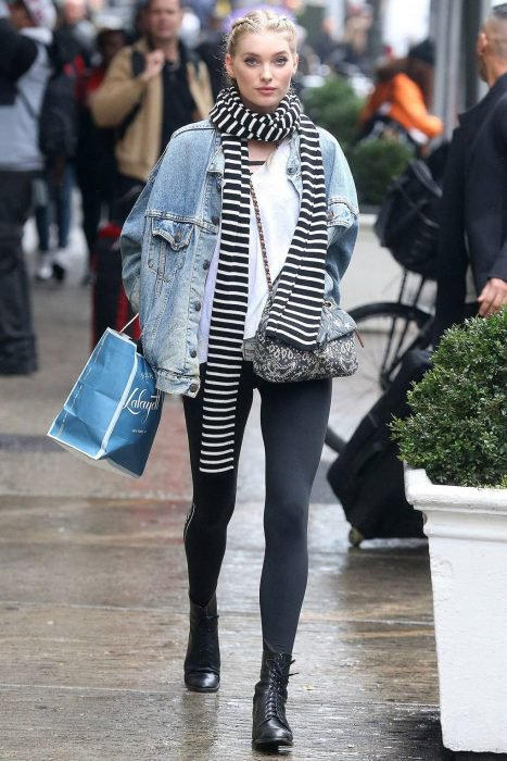 Chica usando un atuendo de invierno para cubrirse del frío en 2018