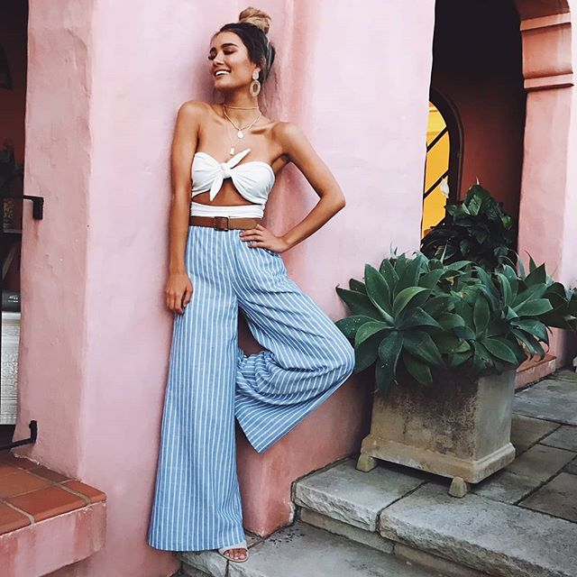 🎉EDIT: Congrats @rabiiabym, you're the winner! DM us to claim your prize🎉 The perfect outfit for that Euro getaway🌞✈️Our 'Bella one piece in milk' + 'Midnight Daydream pants in blue stripe linen look'✨Shop all denim via showpo.com 💘 #showpo