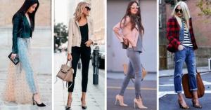 16 Outfits con Jeans y Tacones