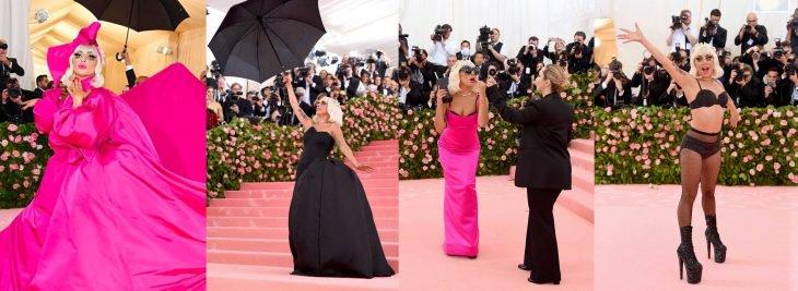Lady Gaga en sus cuatro facetas de atuendos durante la Gala MET