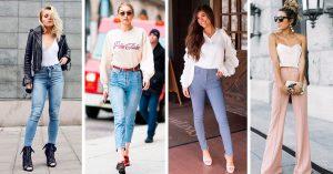 15 Outfits con pantalón de tiro alto que debes probar