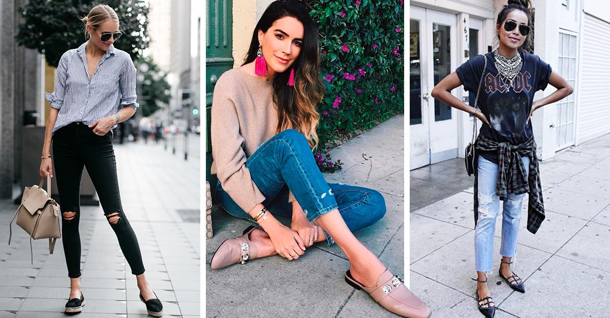 15 zapatos bajos que serán la pareja de tus Skinny Jeans