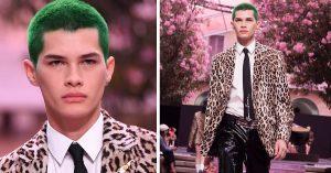 Alfredo Díaz, modelo mexicano que acaparó miradas en Versace
