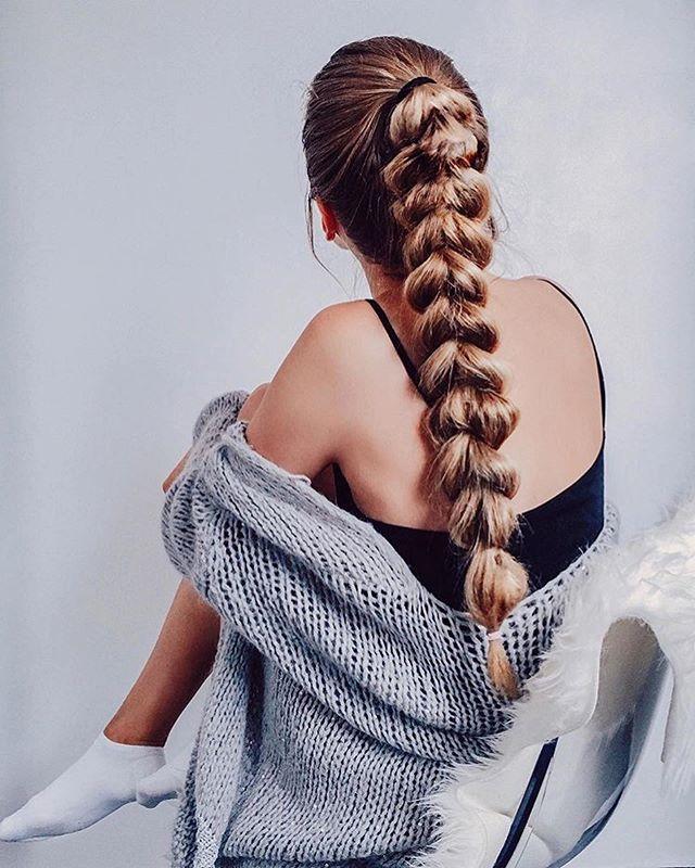 Exquisito peinados con trenza Fotos de cortes de pelo estilo - 47 Peinados con Trenzas de Moda que te Encantarán (2019 ...