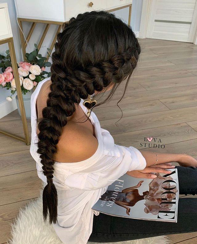 Acogedor peinados de moda Galería de cortes de pelo tutoriales - 47 Peinados con Trenzas de Moda que te Encantarán (2019 ...