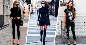 15 Maneras de lucir tus outfits negros sin verte aburrida