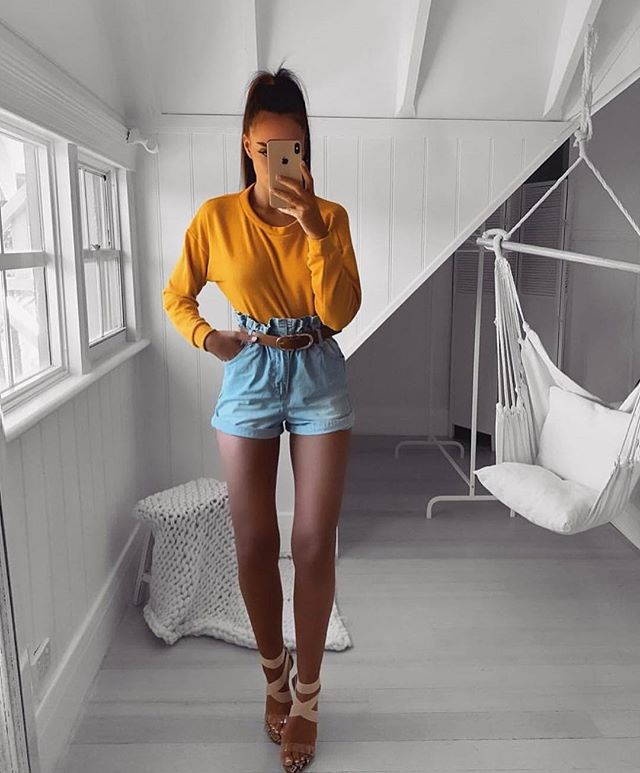 47 Outfits Con Short De Jean Para Lucir Guapa Y A La Moda 2019 Moda Y Estilo