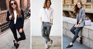 15 Atuendos cómodos para el trabajo y no verte informal