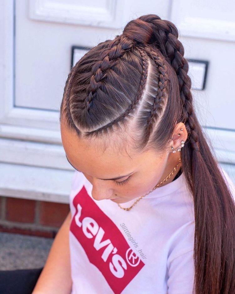 Clásico y sencillo peinados para chicas Colección De Tutoriales De Color De Pelo - 49 Peinados con Trenzas de Moda para Chicas de Cabello ...