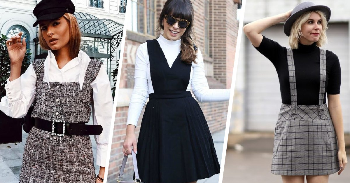 15 Maneras de usar un vestido pichi durante todo el otoño