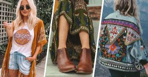 Atuendos boho chic para que el otoño te agarre a la moda