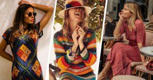 Bonitos vestidos tejidos; el crochet no es solo para abuelas