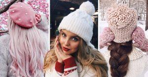 14 Increíbles gorros tejidos para un invierno de glamour