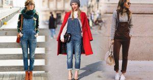15 formas para usar un lindo overol en la temporada invernal
