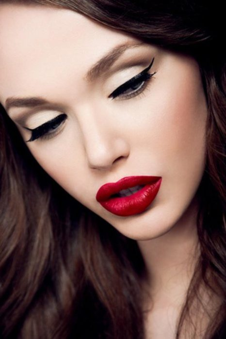 Labios color rojo