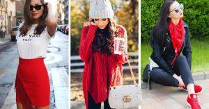 Maneras de usar el color rojo en tu outfit diariamente