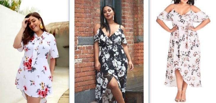 tres vestidos vaporosos en chicas curvy