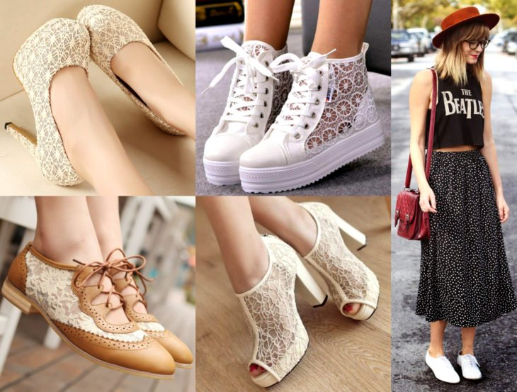 Outfits con zapatos para cada día de la semana; zapatillas de encaje