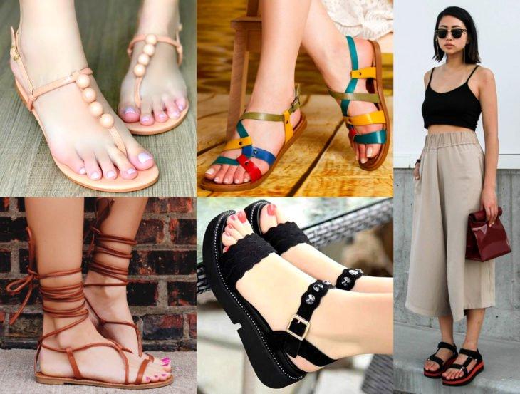 Outfits con zapatos para cada día de la semana; sandalias