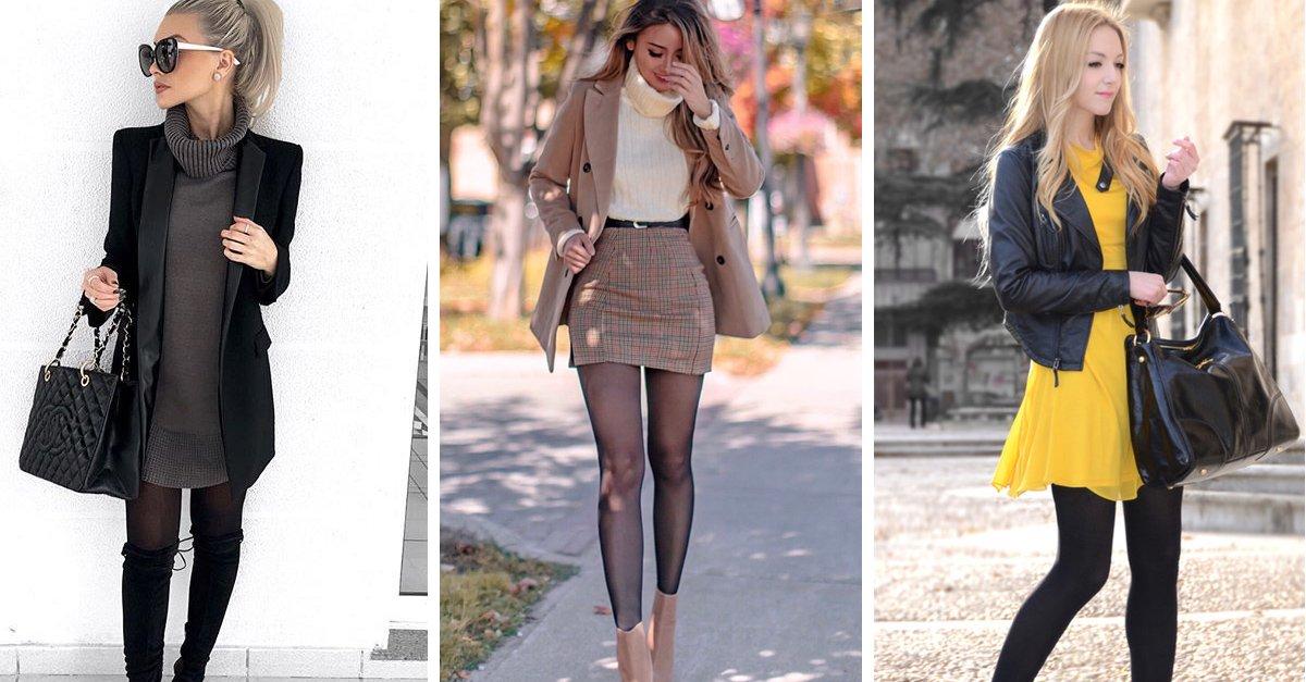 15 Outfits con medias para verte formal, cómoda y femenina