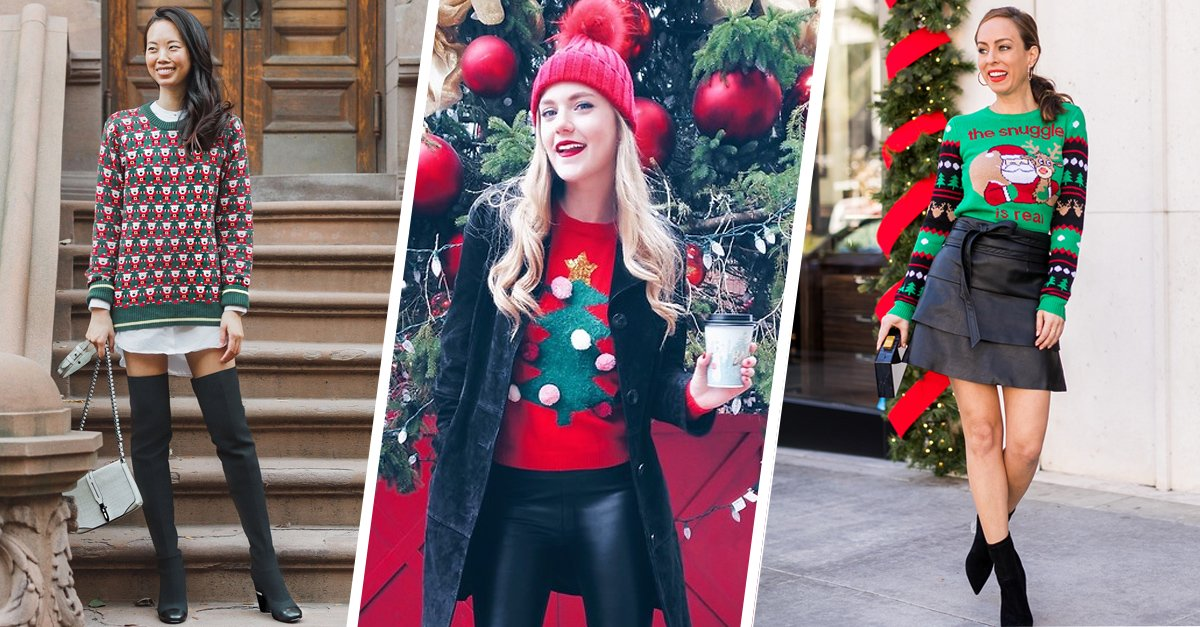 15 Outfits para que puedas usar tu ridículo suéter navideño