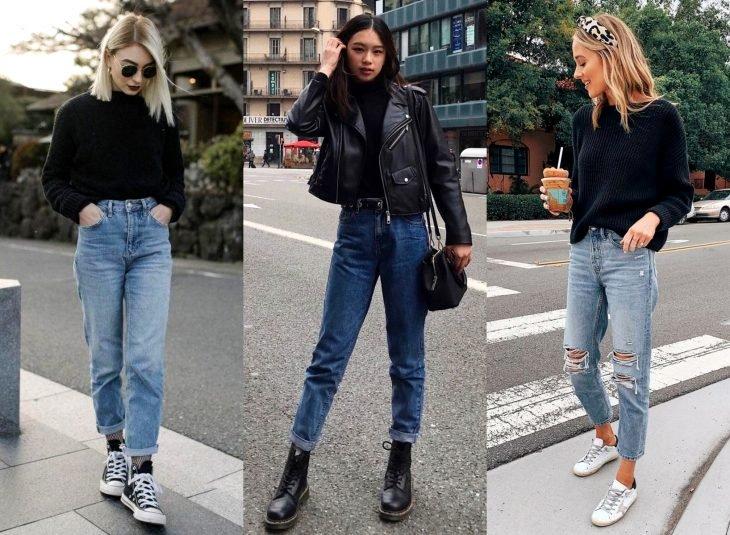 Tipos de pantalones para mujer; mom jeans