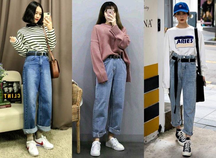 Tipos de pantalones para mujer; boyfriend jeans