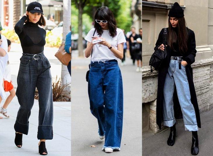 Tipos de pantalones para mujer; baggy jeans