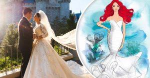 Vestidos de novia de Disney inspirados en las princesas