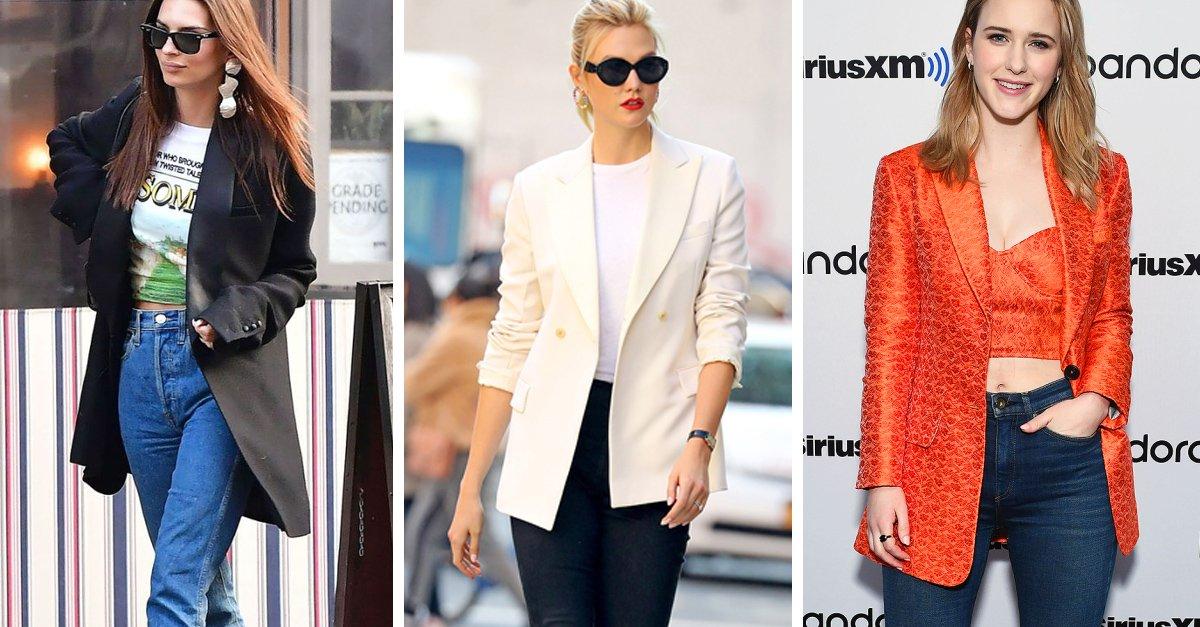 15 Formas en las que debes usar un blazer con jeans este año