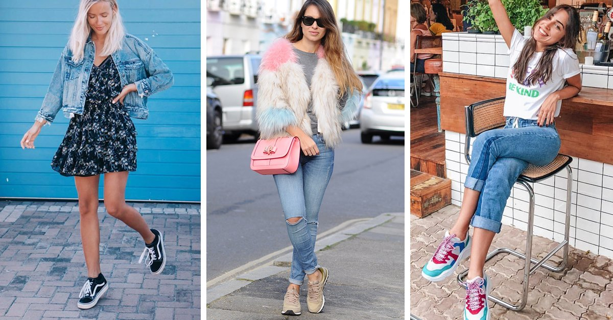 15 Outfits perfectos para usar con tenis de color neutro