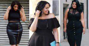15 Outfits totalmente negros, ideales para chicas 'curvy'