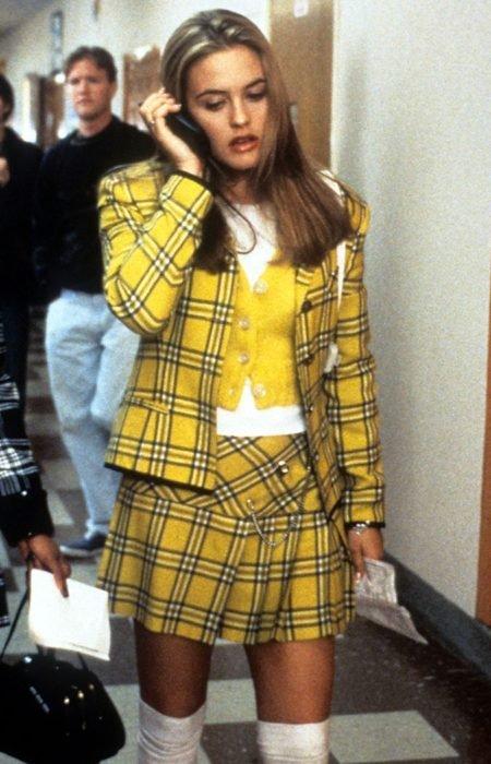 Cher Clueless outfit amarillo con cuadros
