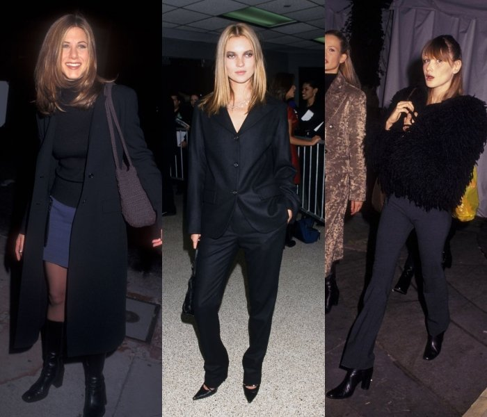 jennifer aniston, kate moss y carla brunni