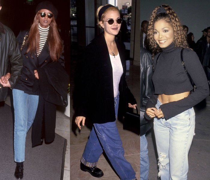 Iman, Drew Barrymore y Janet Jackson