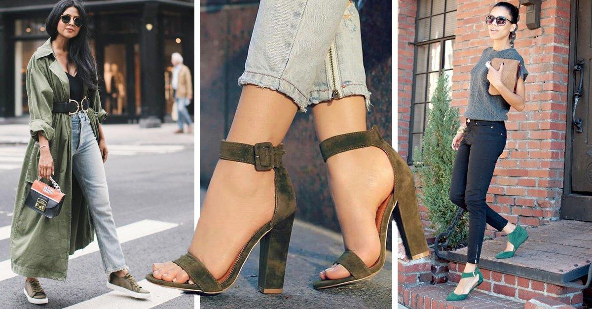 13 Zapatos color verde para complementar todos tus outfits