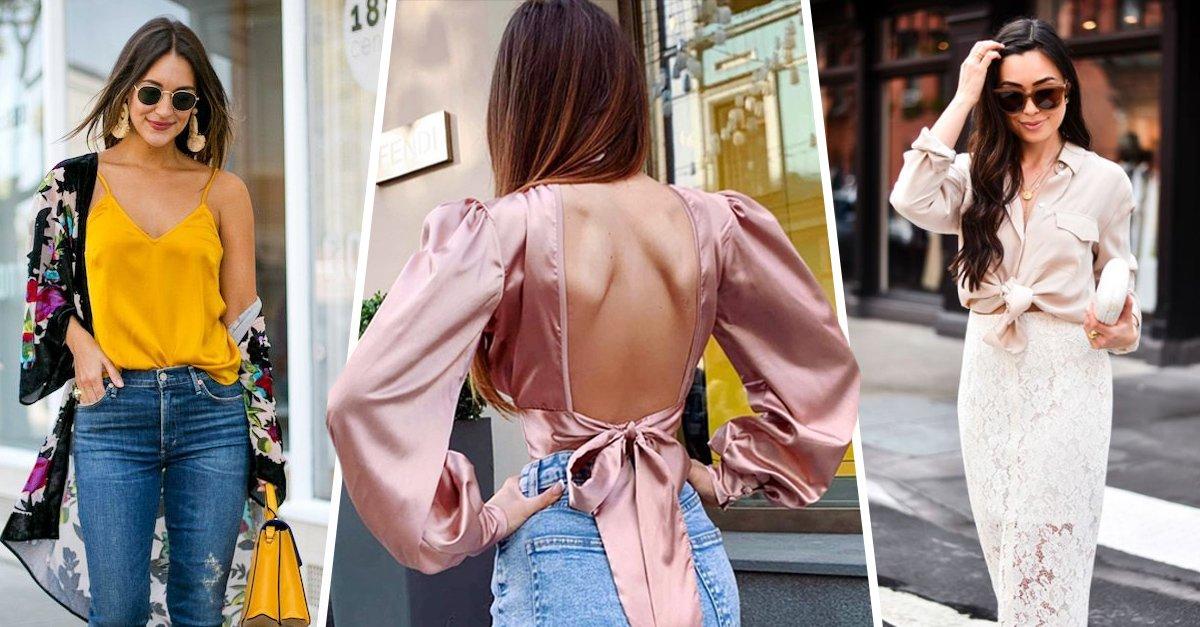 En este momento estás viendo 15 Outfits con blusitas de satín que te harán vibrar alto